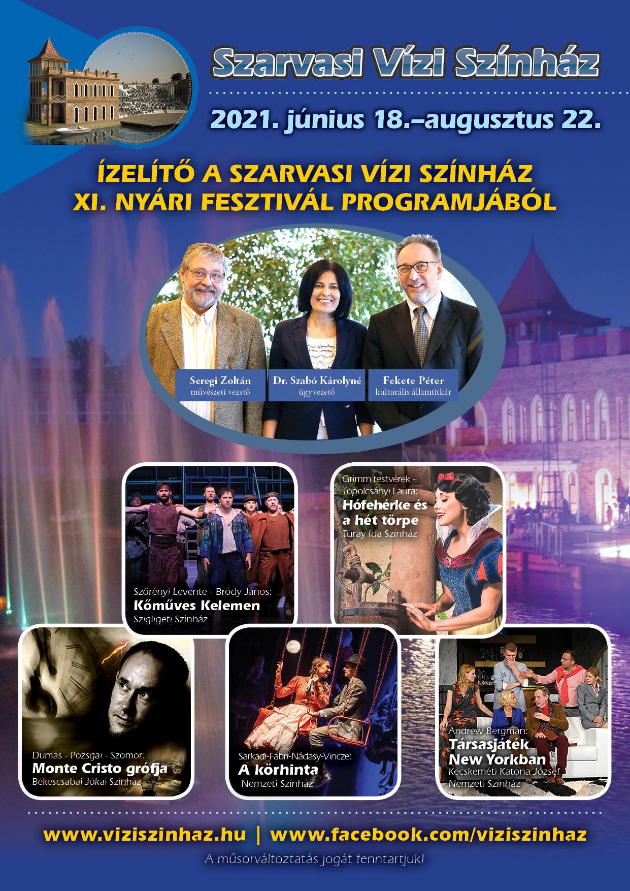 A Szarvasi Vízi Színház nyitásra készül